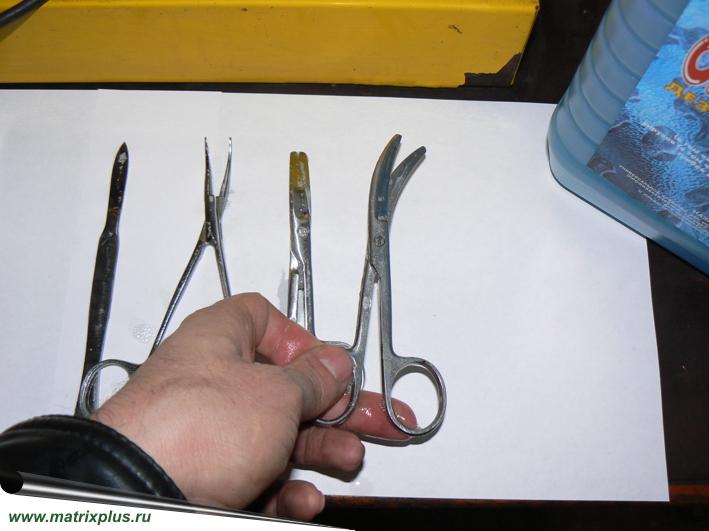 Очистка хирургического инструмента хирургических кабинетов, зубных